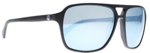NEW Dragon Passport Black Blue Mens Square Navigator Acetate Sunglasses Msrp$100