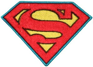 """Superman Logo Iron On Embroidered Applique TV & Movie Characters 3.75 X 2.625"""""""