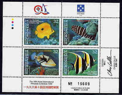 MICRONESIA 1996 LIMITED EDITION TROPICAL FISH SET MINT COMPLETE IN A SHEET!