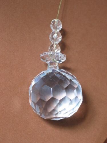 Kristall Glas Kugel Facette 40mm Perlen für Lüster Kronleuchter  boule lustre
