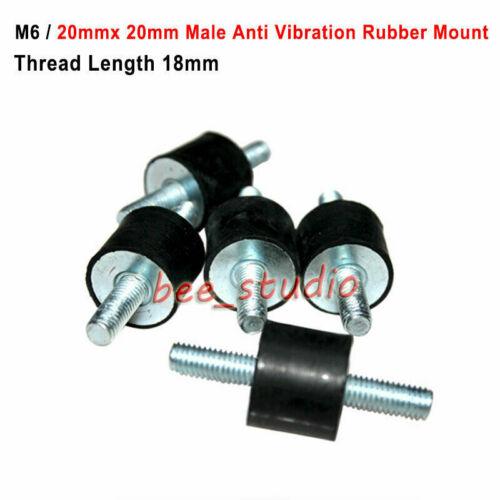 M6 Anti Vibration Rubber Mount male Car Boat Bobbin Isolator Damper 20mmx20mm
