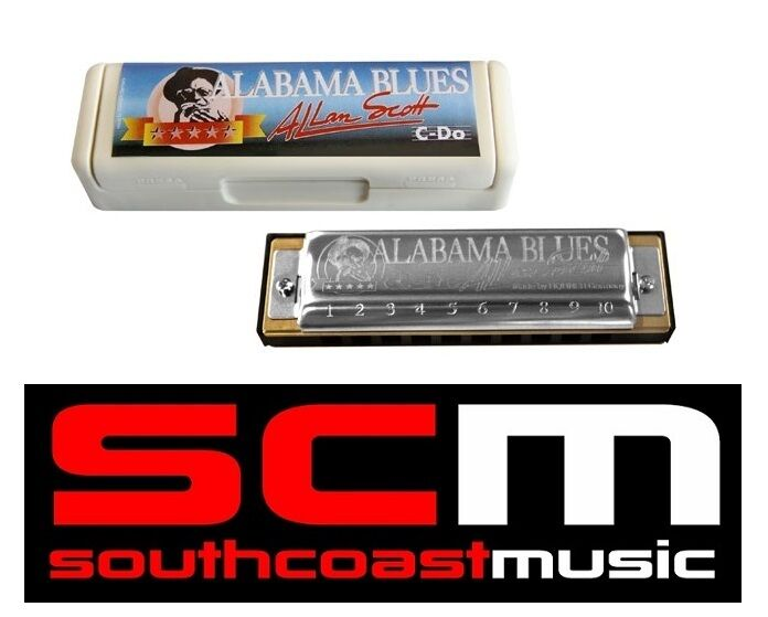 NEW HOHNER ALABAMA blueES C HARMONICA 502 20 HARP With WARRANTY