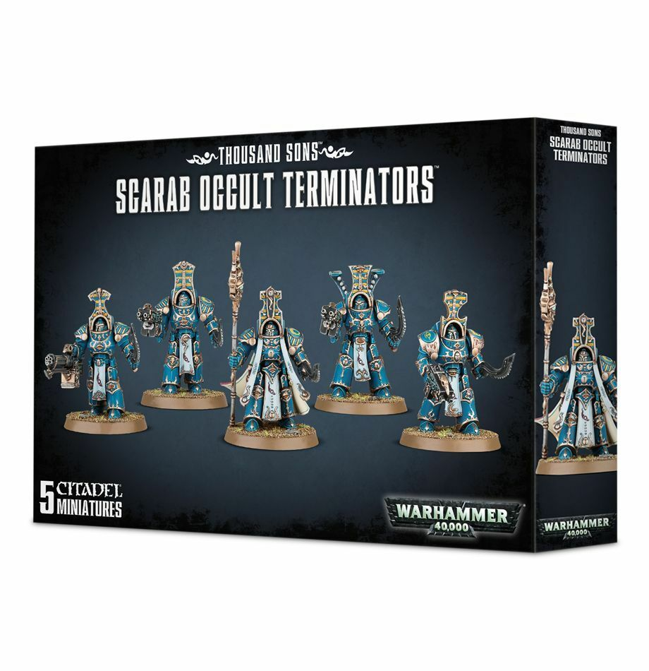 Warhammer 40K Thousand Sons Scarab Occult Terminators Chaos plastic box new