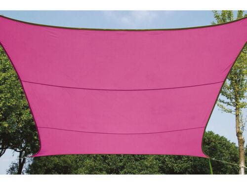 Sonnenschutzsegel Rechteck wasserdurchlässig 6m² rosa für Terrassenbeschattung
