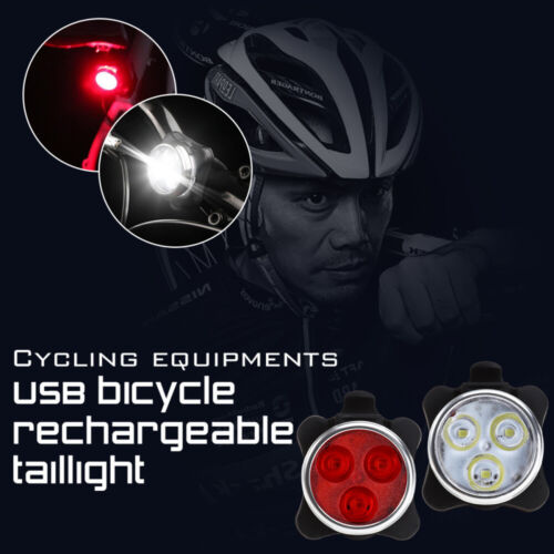 Bike Light Front and Rear USB Rechargeable LED Bicycle Light Set Riding Safely