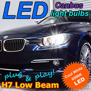 BMW-F30-3-Series-Canbus-LED-Headlight-Bulb-Kit-H7-Low-Beam-6500K-034-HID-White-034