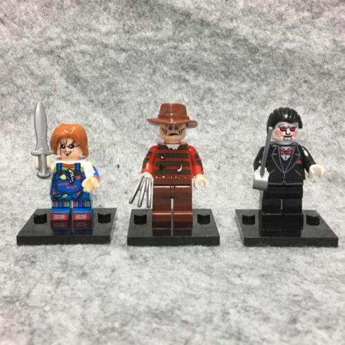 3PCS Horror Movie Chucky Freddy SAW Billy Mini Figure Toy