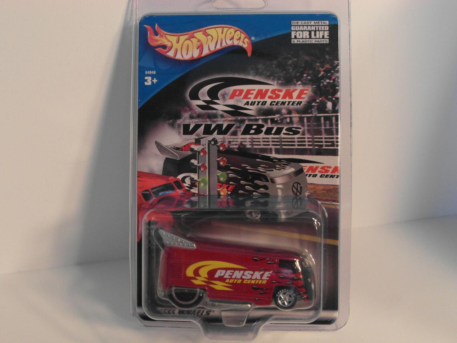 para barato 2001 libertad promociones Penske  Borgoña  HW Hotwheels Hotwheels Hotwheels Vw Drag Bus muy difícil de encontrar  precioso