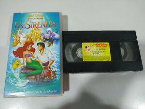 La-Sirenita-Los-Clasicos-de-Walt-Disney-VHS-Cinta-Espanol