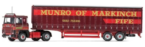 Scania 111 40ft CURTAINSIDE Caravane David Munro and sons ltd markinch scotland