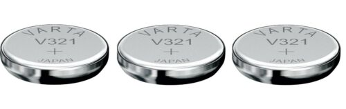 VARTA 3  piles oxyde d/'argent V321 321 SR616SW SR65 1,55V