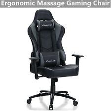 Computer Gaming Chair High Back Office Chair Pu Ergonomic Swivel Massage Chair