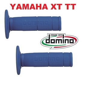 COPPIA-2-MANOPOLE-DOMINO-BLU-YAMAHA-XT-TT-R-600-TT-RE-600-LUNGHEZZA-115-MM