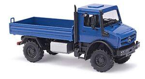 Busch-51002-Mercedes-Benz-U-5023-Flatbed-Cmd-Collection-Blue-H0
