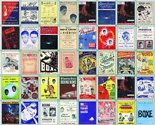 Sugar Ray Robinson Boxing Program Cover Posters Trading Card Set NEW 2017