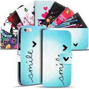 Handy-Huelle-Apple-iPhone-8-Plus-Flip-Cover-Case-Schutz-Tasche-Etui-Motiv-Wallet
