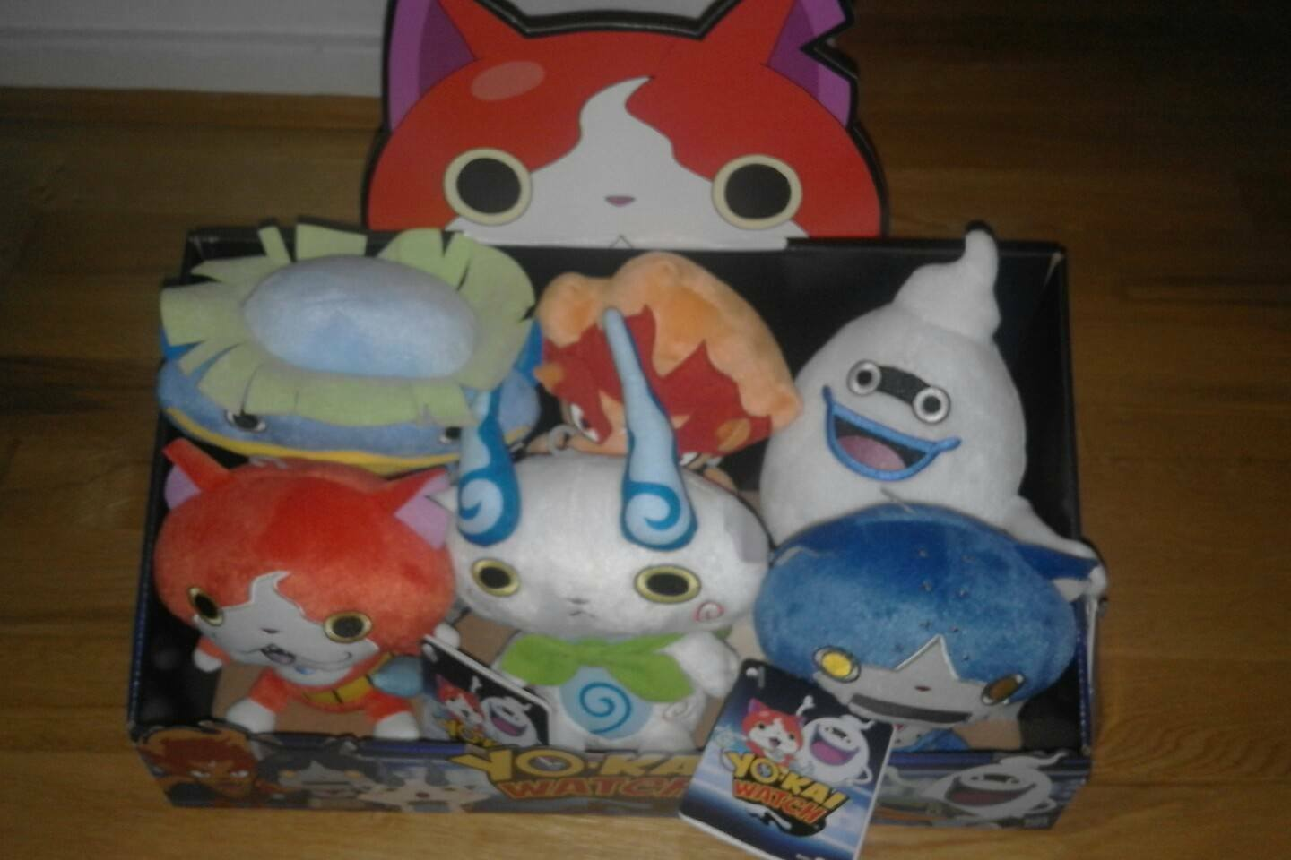 Neuf Rare Lot de 6 Yokai Watch Peluche Jouet Doux personnage figures + Rare Display Case