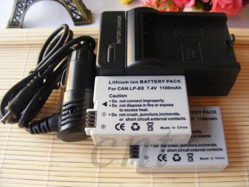 Cargador Kits LP-E8 LPE8 para Canon EOS 700D 550D 600D 650D Batería