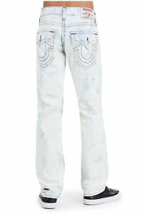 247af5d45bc Mens True Religion Jeans Straight Leg Flap Midnight Bleached Ripped ...