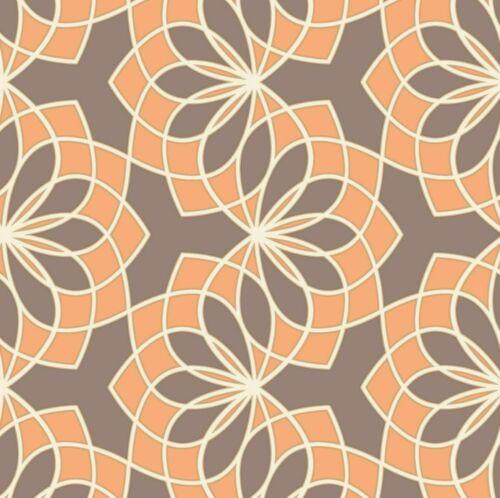 Spiro spirale Géométrique Rétro Vintage Motif Paillettes Soufflé Vinyle Papier Peint
