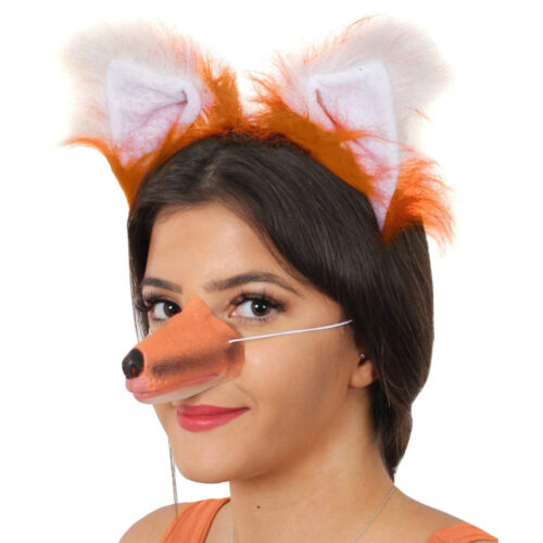FOX NOSE RUBBER FANCY DRESS ACCESSORY SCHOOL BOOK WEEK OUTFIT MR FOX ADULT CHILD