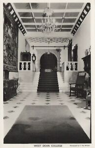 Sussex Postcard - Interior of West Dean College  RS21910