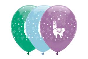 Animales Surtidos llama 12  Globos de Látex Decoración Fiesta De Cumpleaños 6pk