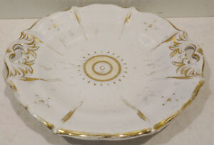 Antique-Fruit-Bowl-Plate-With-Gold-Uninstall-Kor-Wachtersbach-Dm-10in-Nr-2