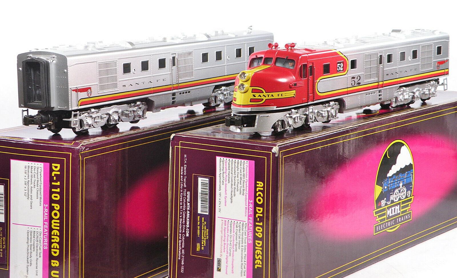 MTH 20-2223-1 20-2223-3 Santa Fe SF DL109 110 A-B Diesels Predo-1 w BCR 2000 C8