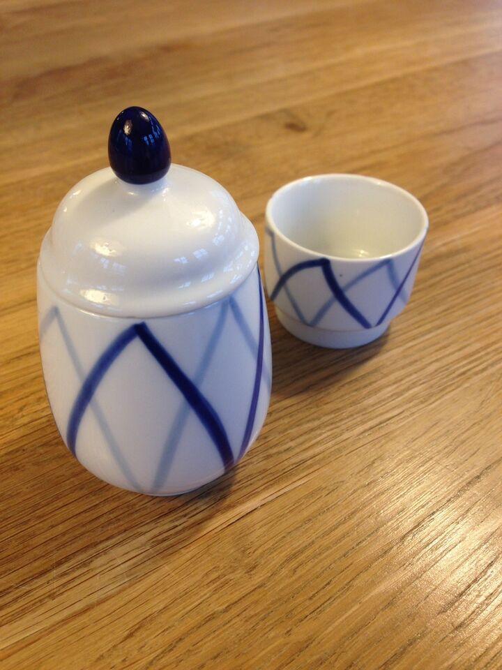Porcelæn, Sennepskrukke og saltkar, Lyngby