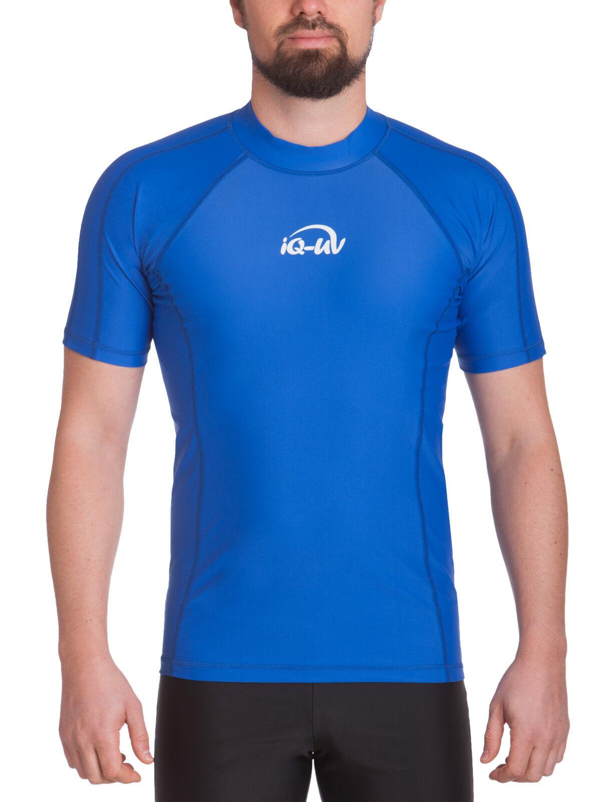 IQ UV 300 300 300 Shirt Slim Fit Men Herren S - 3XL dark-Blau blau Shortsleeve Schutz 12939b
