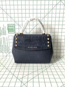 7964122ca1bf41 Image is loading Michael-Kors-Karla-Medium-Top-Handle-Embossed-Leather-