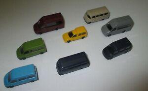 Rietze-Set-Kleinbusse-Iveco-Transit-Caddy-L319-8-x-1-160-Neuf