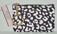 Victoria's Secret Leopard Print Coin Purse Key Chain Pink Interior NEW