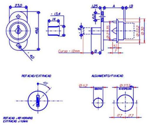 Papaiz coulissantes vitrine porte en bois Push cylindre piston Lock Furniture