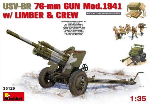 Miniart 35129-1//35 USv-Br 76mm Gun Mod Neu 1941 With Limber /& Crew