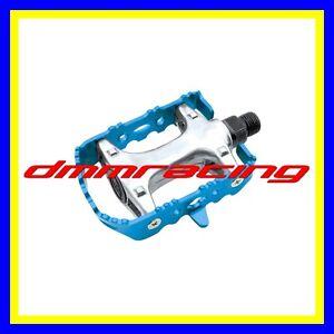 Coppia-Pedali-Bici-Universali-Alluminio-Blu-MTB-Bicicletta-strada-BMX-trekking
