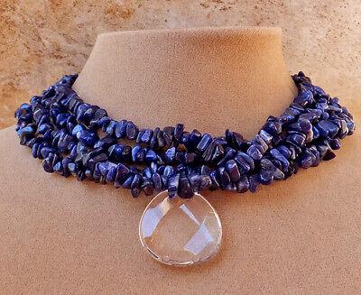 Natural gemstone necklace Sodalite necklace Blue gemstone pendant genuine gemstone jewelry Natural gemstone jewelry Sodalite earrings