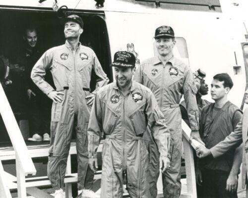 Apollo 13 Crew Aboard USS IWO JIMA After Safe Return 1970 New 11x14 NASA Photo