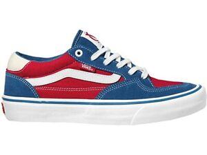 VANS ROWAN PRO SKATE SHOES NEW MEN'S SIZE 8.5 RED/WHITE/BLUE