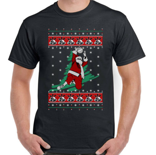 Basketball Santa Mens Funny Christmas T-Shirt Secret Santa Stocking Filler