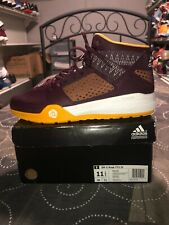 1d2d61635 Adidas SM D Rose 773 IV Mens Basketball Shoes Size 11.5 Maroon Yellow F37176