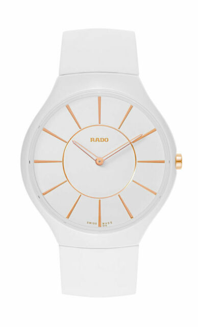0ac608dbf Rado Watch Womens Swiss True Thinline White Rubber Strap R27957109 ...