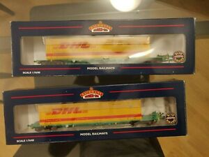 Bachmann 37-305 Intermodal Bogie Wagon 2 x 45ft Containers DHL Livery