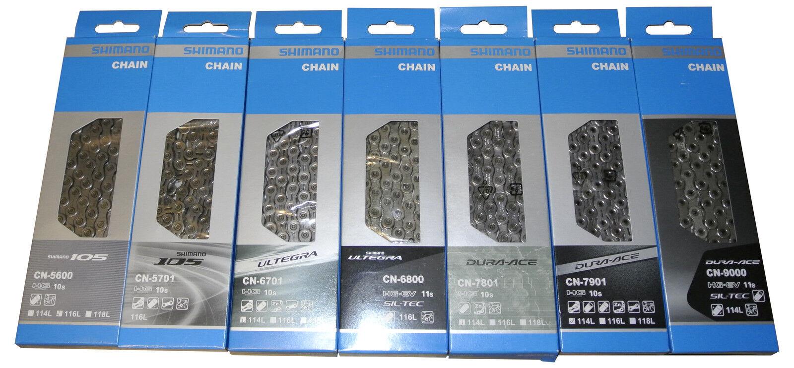 Shimano Kette 5600, 5701, 6701, 6800, 7801, 7901, 9000 (105, Ultegra, Dura Ace)