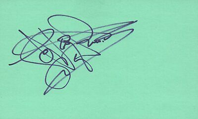 Rapture Levar Burton Actor 1980 Pyramid Tv Movie Autographed Signed Index Card Rich And Magnificent Movies