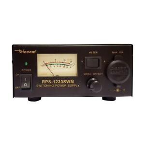 13-8-V-30-Amp-PSU-Alimentation-CB-Ham-Radio-De-Bureau-Bloc-d-039-alimentation-30amp-RPS-1230-SWM
