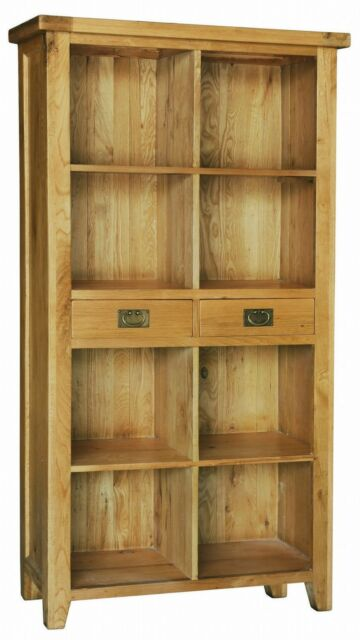Panama solid oak living room office furniture large drawer bookcase