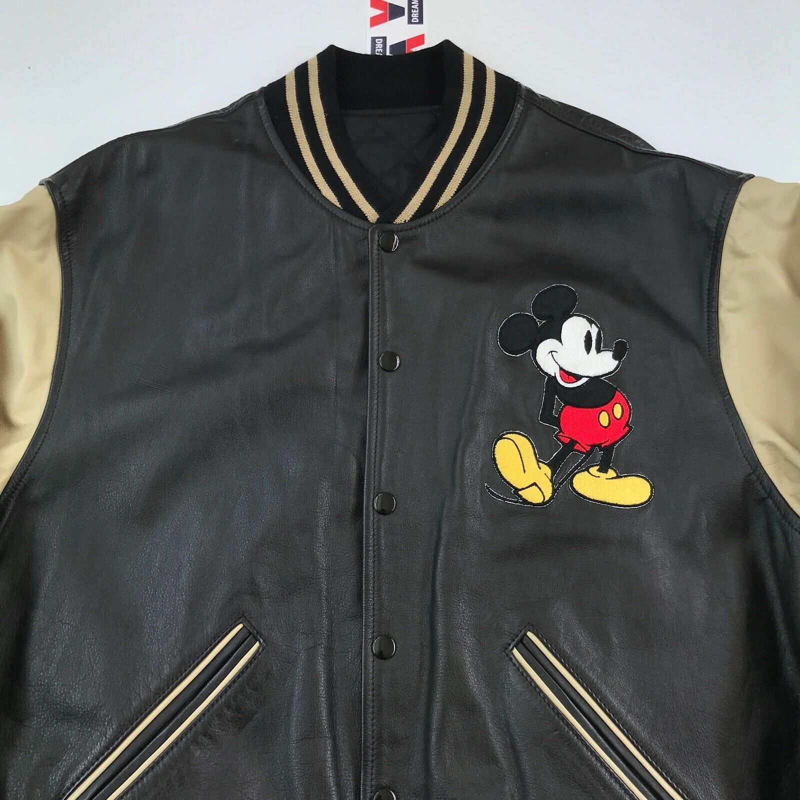 Vintage MICKEY MOUSE Cowboy Western Leather Jacke… - image 3