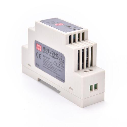 15W 12V MINI DIN-Schienen-Schaltnetzteil DR-15-12 LED-Netzte ecMVXJ